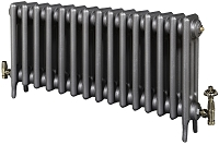 Eastgate Victoriana 3 Column 15 Section Cast Iron Radiator 450mm High x 937mm Wide - Metallic Finish